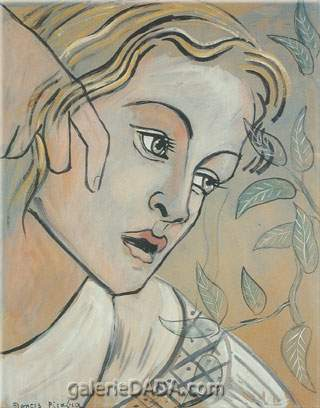 Francis Picabia, Transparence: Womans Face Fine Art Reproduction Oil Painting