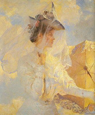 Frank W. Benson, Against the Sky Fine Art Reproduction Oil Painting