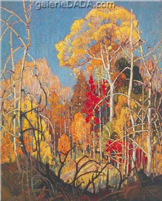 Franklin Carmichael, Autumn: Orillia Fine Art Reproduction Oil Painting