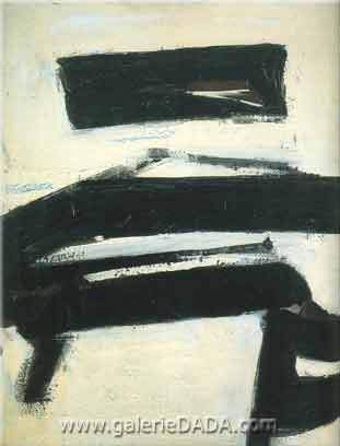 Franz Kline, Black and White Fine Art Reproduction Oil Painting