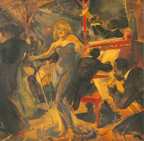 Franz Kline, Hot Jazz Fine Art Reproduction Oil Painting