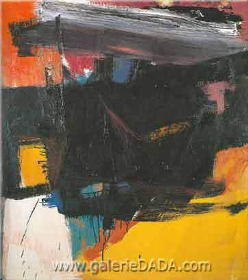 Franz Kline, Red Crayon Fine Art Reproduction Oil Painting