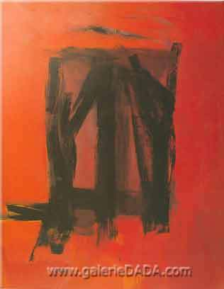 Franz Kline, Red Painting Fine Art Reproduction Oil Painting