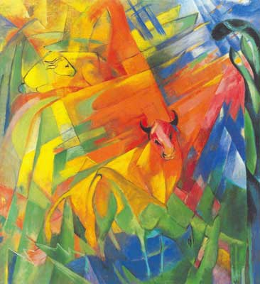 Franz Marc, Animals in Landscape Fine Art Reproduction Oil Painting