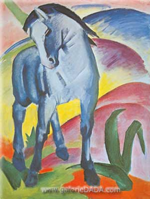 Franz Marc, Blue Horse I Fine Art Reproduction Oil Painting