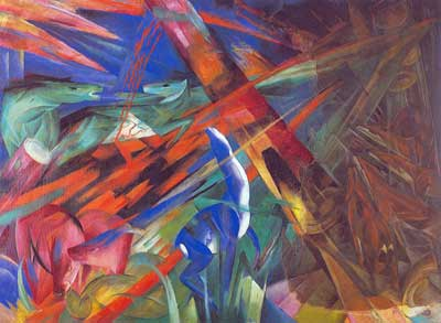 Franz Marc, Fate of the Animals Fine Art Reproduction Oil Painting
