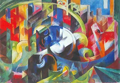 Franz Marc, Painting with Cattle Fine Art Reproduction Oil Painting