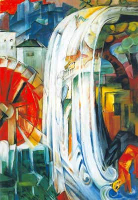 Franz Marc, The Bewitched Mill Fine Art Reproduction Oil Painting
