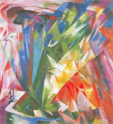 Franz Marc, The Birds Fine Art Reproduction Oil Painting