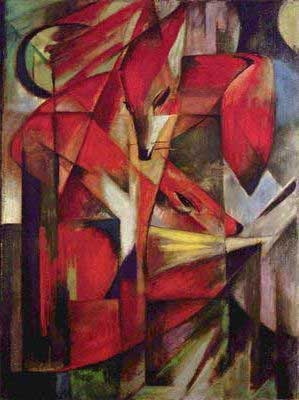 Franz Marc, The Fox Fine Art Reproduction Oil Painting