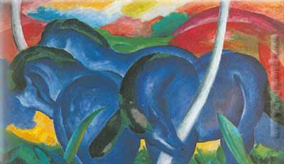 Franz Marc, The Large Blue Horses Fine Art Reproduction Oil Painting