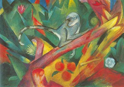 Franz Marc, The Monkey Fine Art Reproduction Oil Painting