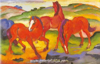 Franz Marc, The Red Horses Fine Art Reproduction Oil Painting
