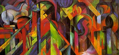 Franz Marc, The Stables Fine Art Reproduction Oil Painting
