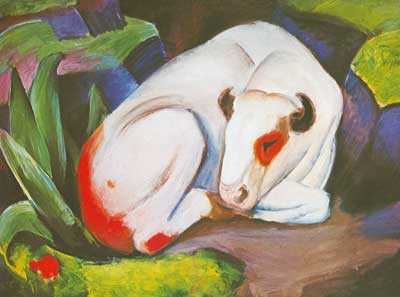 Franz Marc, The Steer Fine Art Reproduction Oil Painting