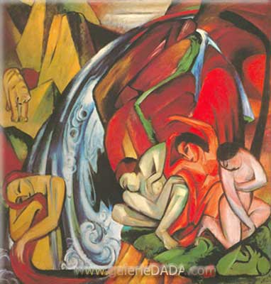 Franz Marc, The Waterfall Fine Art Reproduction Oil Painting