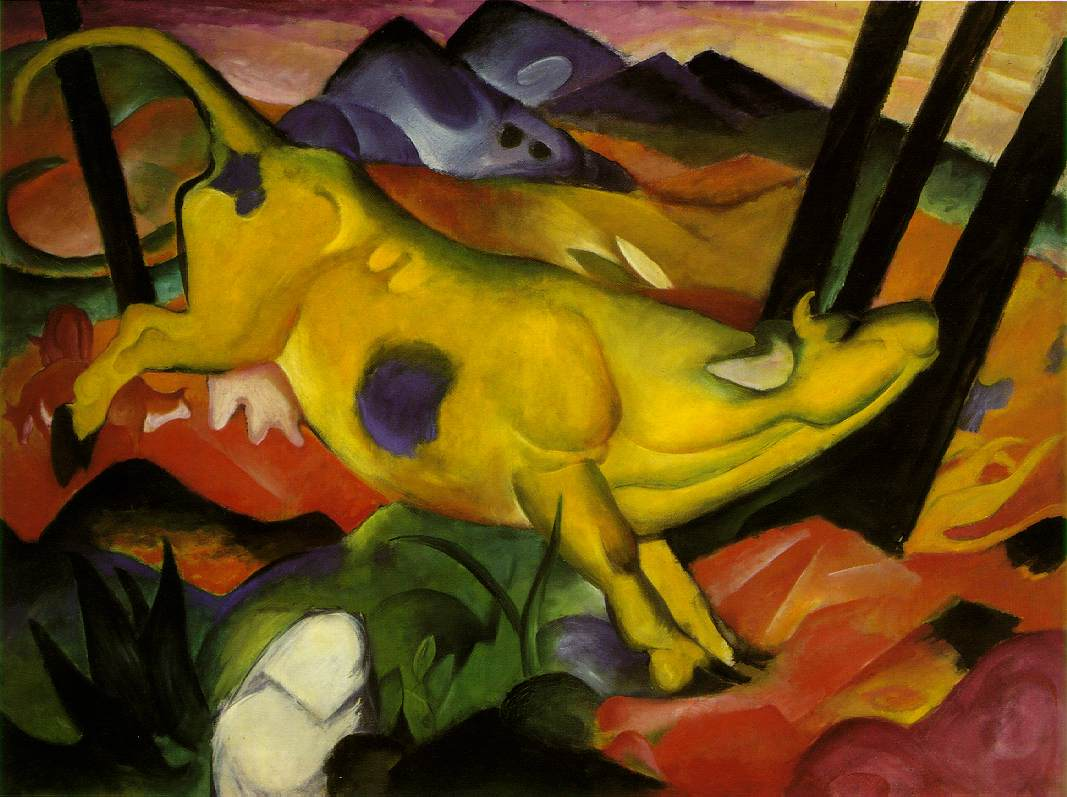Franz Marc, The Yellow Cow Fine Art Reproduction Oil Painting