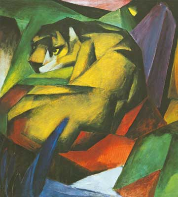 Franz Marc, Tiger Fine Art Reproduction Oil Painting