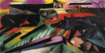 Franz Marc, Wolves Balkan War Fine Art Reproduction Oil Painting