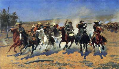 Frederic Remington, A Dash for the Timber Fine Art Reproduction Oil Painting