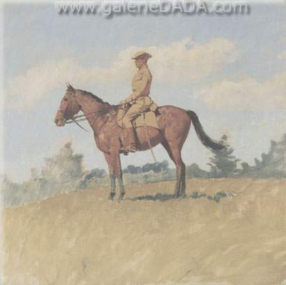 Frederic Remington, General Leonard Wood on Horseback Fine Art Reproduction Oil Painting