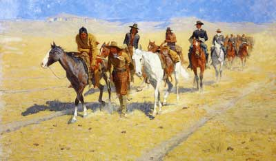 Frederic Remington, Pony Tracks in the Buffalo Trails Fine Art Reproduction Oil Painting