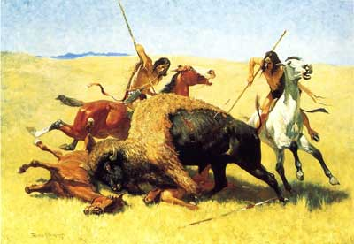 Frederic Remington, The Buffalo Hunt Fine Art Reproduction Oil Painting