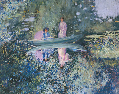 Frederick Frieseke, Gray Day on the River Fine Art Reproduction Oil Painting