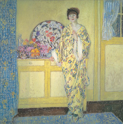 Frederick Frieseke, The Yellow Room Fine Art Reproduction Oil Painting