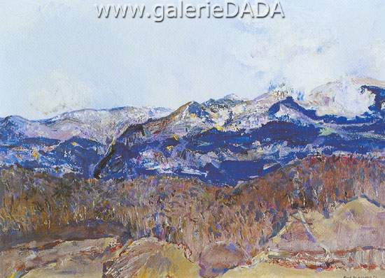 Frederick Williams, Snowy Mountains Fine Art Reproduction Oil Painting