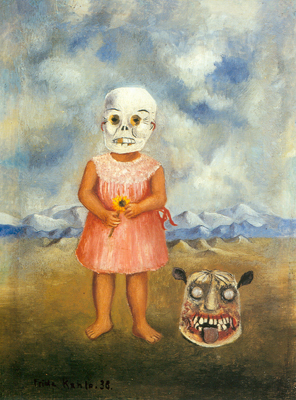 Frida Kahlo, Girl with a Death Mask Fine Art Reproduction Oil Painting