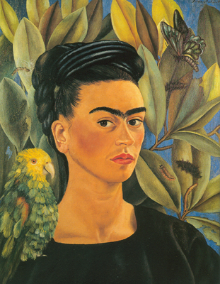 Frida Kahlo, Self-Portrait with Bonito Fine Art Reproduction Oil Painting