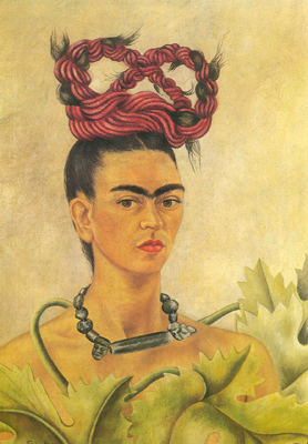 Frida Kahlo, Self-Portrait with Braid Fine Art Reproduction Oil Painting