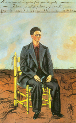 Frida Kahlo, Self-Portrait with Cropped Hair Fine Art Reproduction Oil Painting