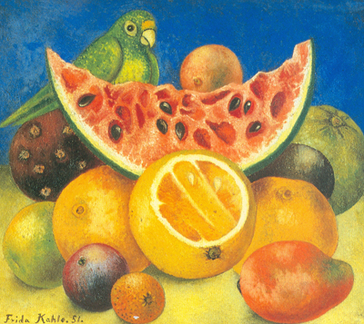 Frida Kahlo, Still Life with Parrot Fine Art Reproduction Oil Painting