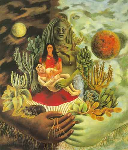 Frida Kahlo, The Love Embrace of the Universe Fine Art Reproduction Oil Painting