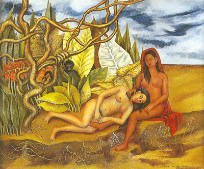 Frida Kahlo, Two Nudes in a Forest Fine Art Reproduction Oil Painting
