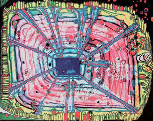 Friedensreich Hundertwasser, Rain of Blood? Fine Art Reproduction Oil Painting