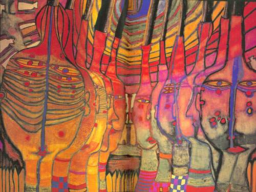 Friedensreich Hundertwasser, The End of the Greeks? Fine Art Reproduction Oil Painting