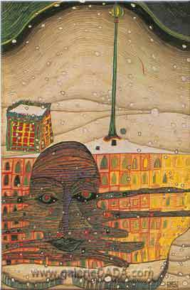 Friedensreich Hundertwasser, Winter Painting Fine Art Reproduction Oil Painting