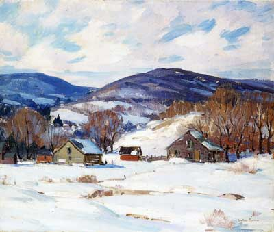 George Gardner Symons, Early Snow Fine Art Reproduction Oil Painting