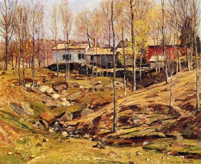 George Gardner Symons, Landscape with Houses Fine Art Reproduction Oil Painting