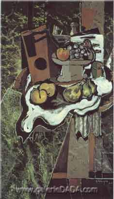Georges Braque, Fruit on a Tablecloth Fine Art Reproduction Oil Painting
