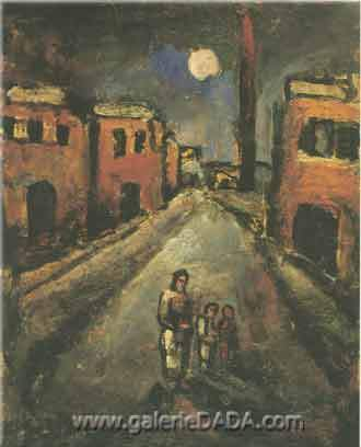 Georges Rouault, Christ in the Suburbs Fine Art Reproduction Oil Painting