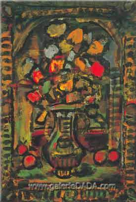 Georges Rouault, Decorative Flowers Fine Art Reproduction Oil Painting