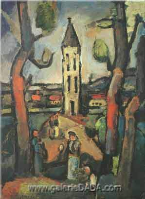 Georges Rouault, Landscape with Large Trees Fine Art Reproduction Oil Painting