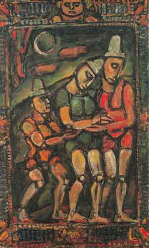 Georges Rouault, The Injured Clown Fine Art Reproduction Oil Painting