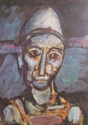 Georges Rouault, The Old Clown Fine Art Reproduction Oil Painting