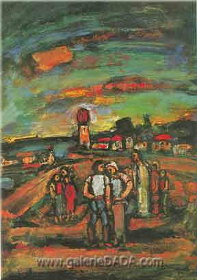 Georges Rouault, Twilight (Ile de France) Fine Art Reproduction Oil Painting