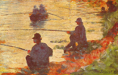 Georges Seurat, Fishermen Fine Art Reproduction Oil Painting
